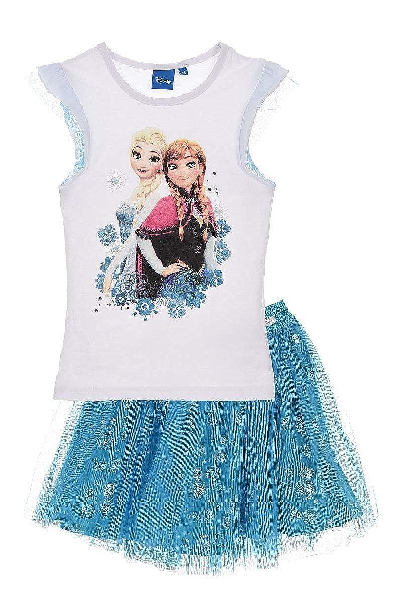 Frozen Set Maglietta e Gonna Anna ed Elsa