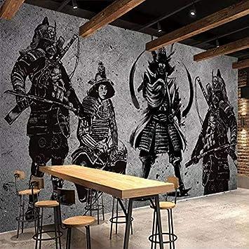 BZDHWWH Murales Personalizados Wallpaper 3D Japonés Samurai ...
