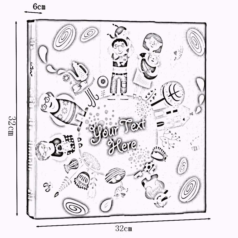 LiRuiPengXC GWDJ GWDJ LiRuiPengXC Álbum de Fotos, Gran Capacidad Espesar Álbum en Caja Inserto Altamente Transparente Casarse Libro conmemorativo Bebé Práctico Crecer Álbum de Fotos (Color : A) a4780c
