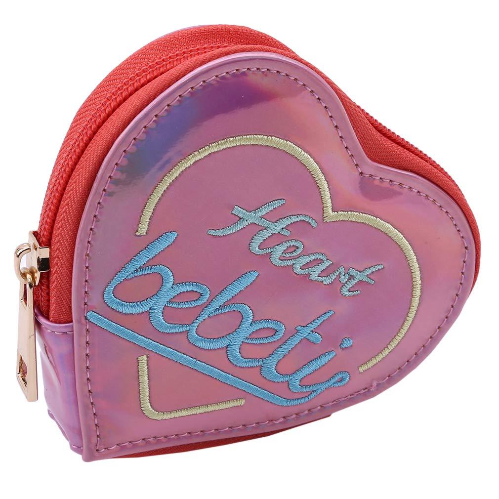 Amazon.com: NIKOLay - Monedero con forma de corazón, diseño ...