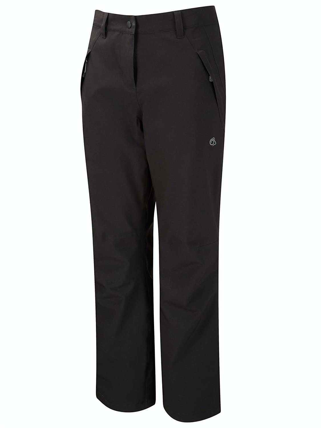CRAGHOPPERS LADIES AYSGARTH WATERPROOF STRETCH LINED TROUSERS BLACK CWW1075