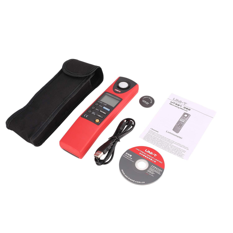 UNI T UT382 Digital Luxmeter Light Meter Lux/FC Meter Auto range 1999 count Luminometer 20,000 Lux Data storage USB interface