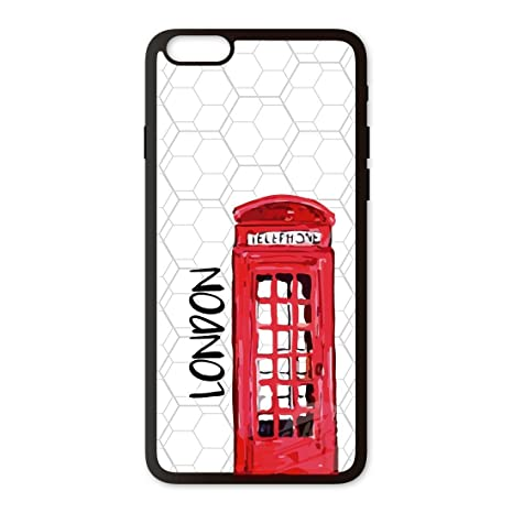 Funda móvil iPhone 6 Plus Londres Cabina 3D: Amazon.es ...