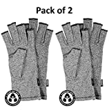 IMAK Compression Arthritis Gloves, Original with Arthritis Foundation Ease of Use Seal, Large (Pack of 2)