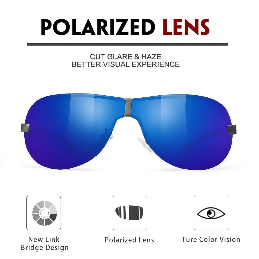WELUK Aviator Sunglasses for Men Polarized Military Pilot Sun Glasses Shades UV400 Protection