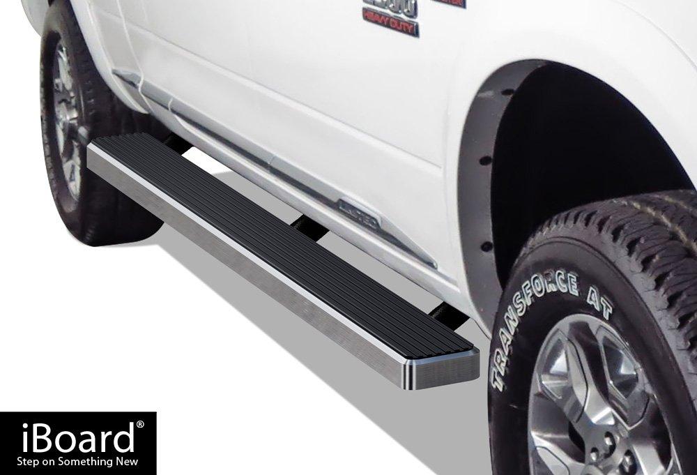 APS iBoard Running Boards 4' Matte Black Custom Fit 2010-2018 Ram 2500/3500 Mega Cab Pickup 4-Door (Nerf Bars | Side Steps | Side Bars)