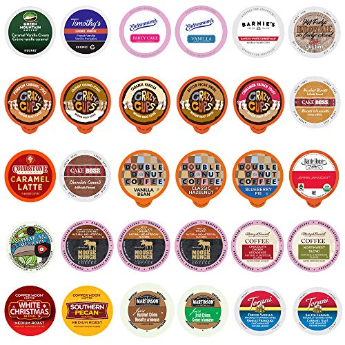 Perfect Samplers Flavored Coffee Variety Pack, Single Serve Pods like Crazy Cups, Green Mountain, K-Cup for Keurig, Assorted 30 Count