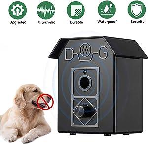 New Pet Upgraded Anti Barking Device, Ultrasonic Dog Bark Control 50 Feet Effective, Waterproof Outdoor Anti Bark Dog Repeller Training Deterrent 100% Safe