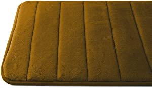 Luxor Linens - Memory Foam Bath Mat (17 x 25 inch) - Giovanni Line - Luxurious , Super Soft & Absorbent with Anti-Slip Backing - Available in a Wide Variety of Colors (One Bath Mat, Caramel)