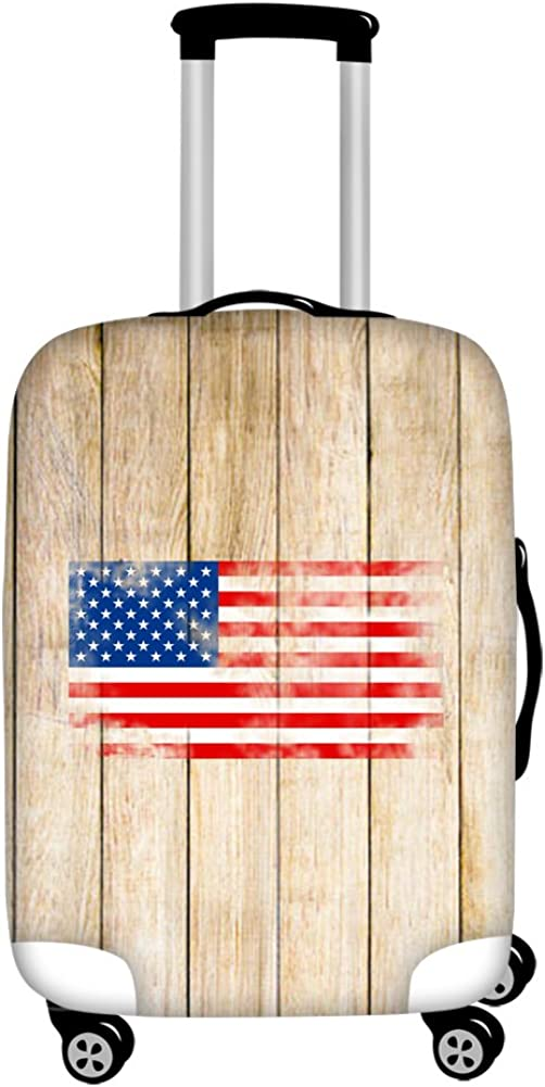 Sannovo American Flag Travel Luggage Protective Covers 18-30 Suitcase Elastic
