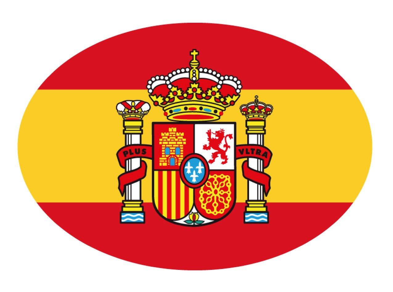Aufkleber Flagge Oval Wappen Spanien Ediciones Imagina S.L.