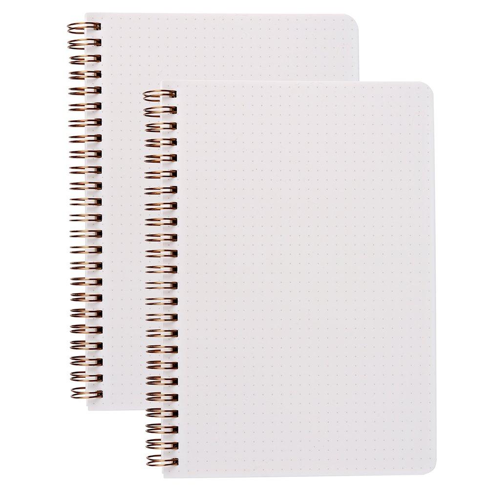 A5/DOT Grid Bullet Gazzetta 100/gsm Spiral notebook 14,5/x 21,1/cm/ spessore Dotted Paper con rilegatura a spirale /80/fogli per libro 2-pack