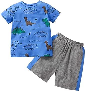Toddler Baby Boy Clothes Tops Pants Shorts Set Cotton Baby Clothes T-Shirt Top and Pants 2PCS Causal Outfits Set