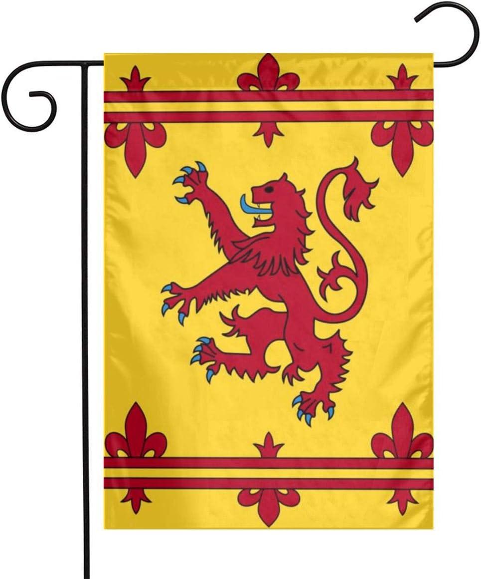 ZZATAA Scotland Scottish Rampant Lion Garden Flag Decoration Banner Decorative Sweet Home Yard Festival Outdoor 12X18inch