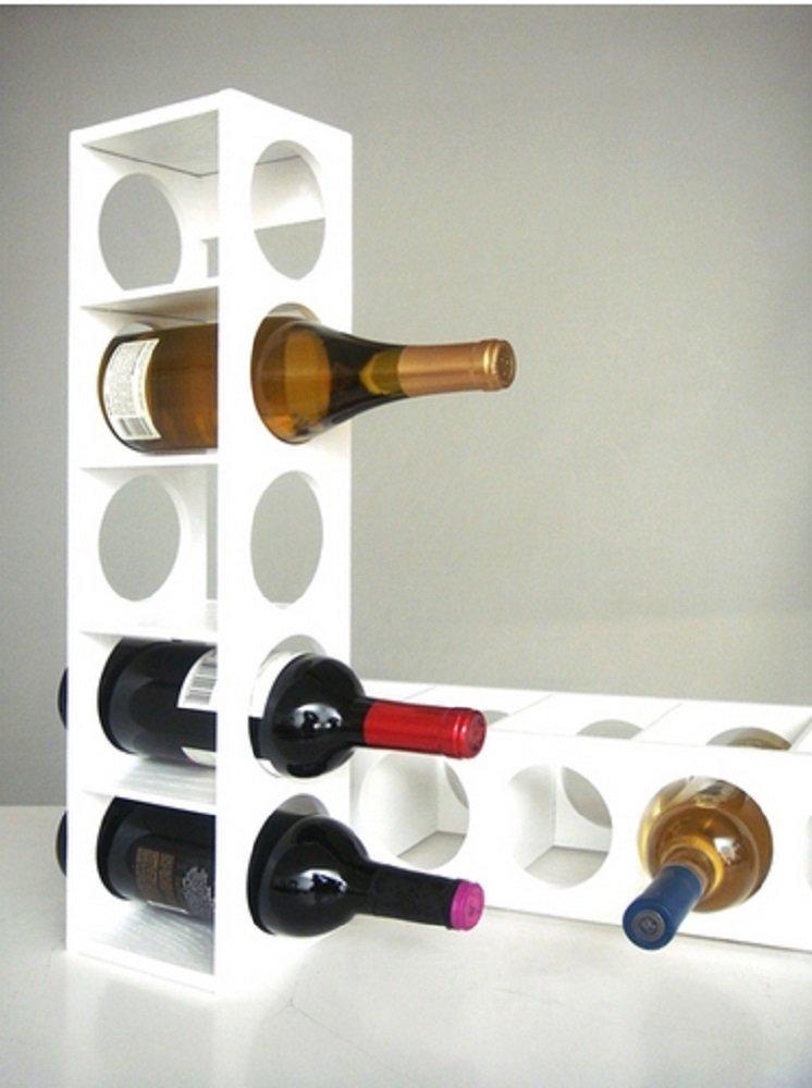 Rutherford Wine Rack (set of 2) (White)