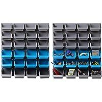 Giantz 48 Storage Bin Rack Wall-Mounted Tool Parts Garage Shelving Organiser
