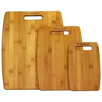 Amazoncom Oceanstar Cb1156 3 Piece Set Bamboo Cutting Board Set