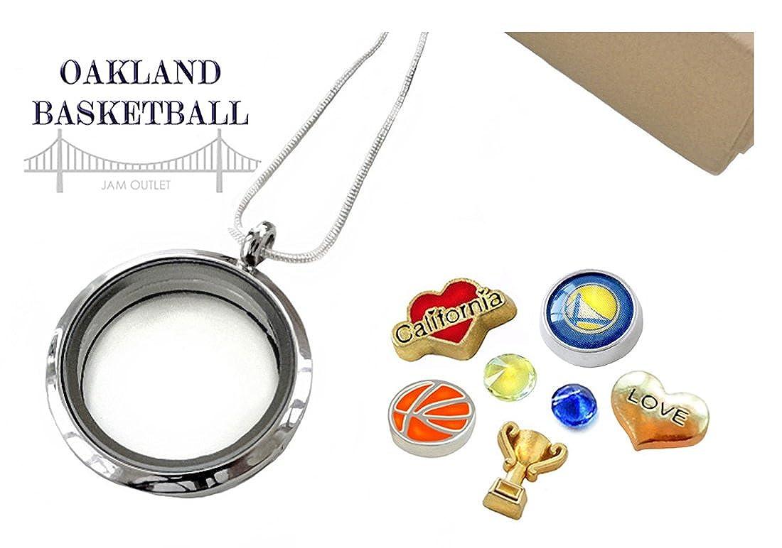 Oakland baloncesto memoria Locket flotante juego de colgante ...
