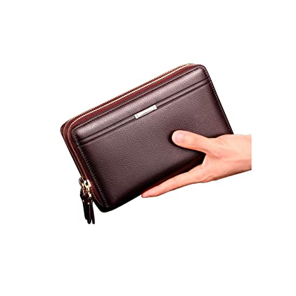 563520aa1b5f Amazon.com: Kalmar RFID Travel Wallet Stealth Mode Leather Zip ...