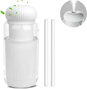 Airabc Cactus Cool Mist Humidifier, 300ML Portable Mini Humidifier, Quiet Ultrasonic Humidifiers for Baby Bedroom Travel Office Home Car, with Auto Shut-Off, 2 Mist Modes, Night Light Function