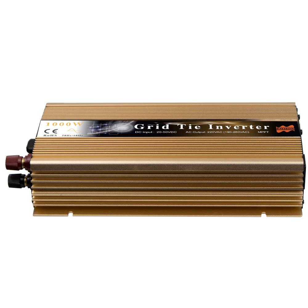 Marsrock 1000W Grid Tie Micro Solar Inverter, 20-50VDC to 90-140VAC MPPT Pure Sine Wave Inverter for 1200W 30V, 36V Solar Module System (AC120V Gold) by Marsrock (Image #2)