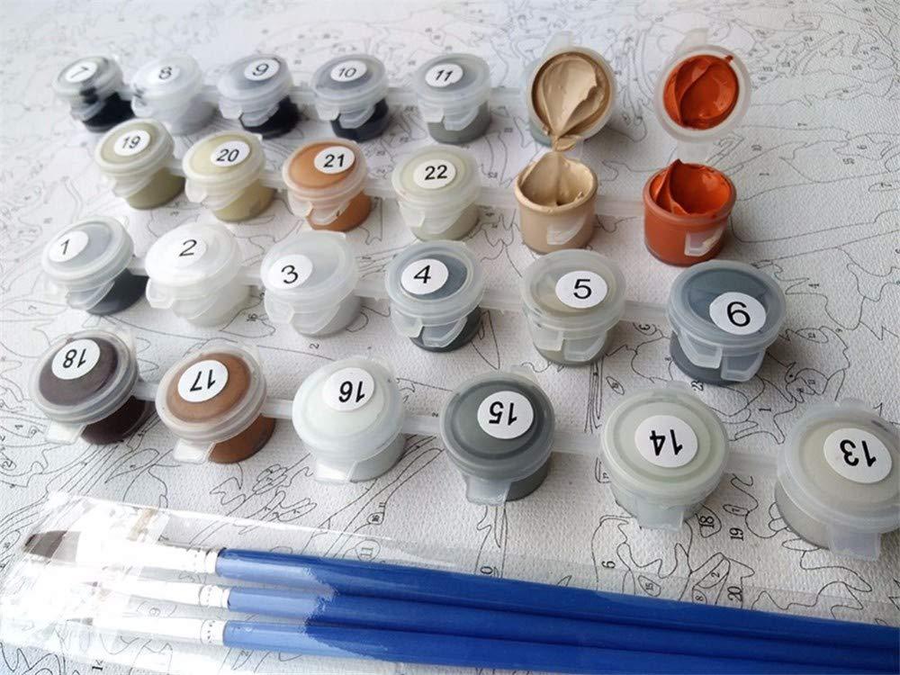 wangjian/& Tableaux modulaires dessinant des nombres Femmes africaines peignant pour des Affiches et des Empreintes de d/écoration Murale de Cuisine