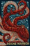 Roche Harbor, Washington - Octopus Mosaic (12x18 Art Print, Wall Decor Travel Poster)