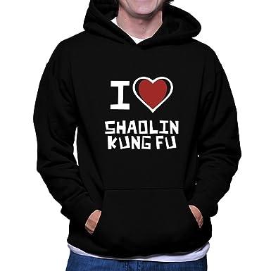 Teeburon I Love Shaolin Kung Fu Hoodie at Amazon Men's