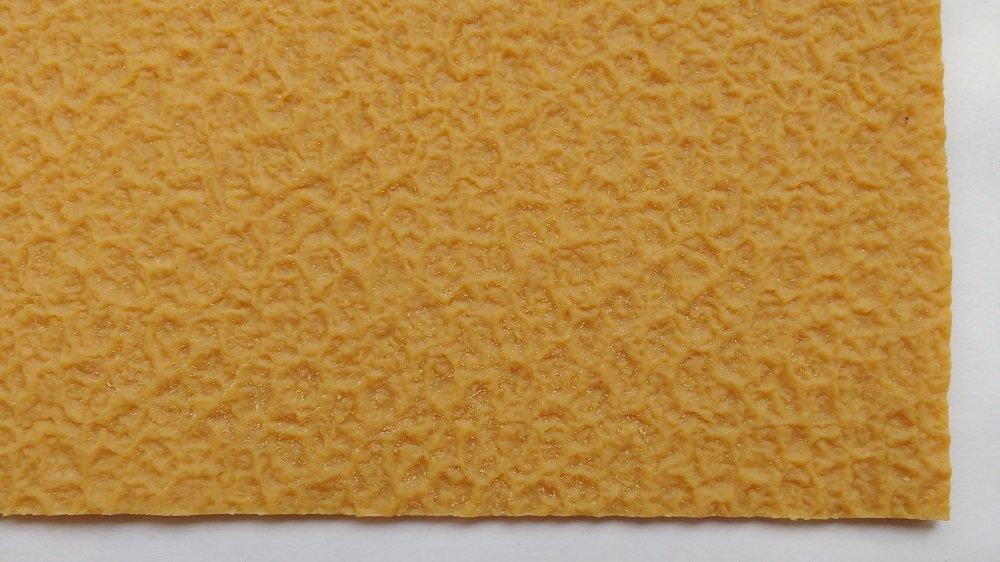 Tan Crepe Natural Gum Rubber 19 1/2'' x 13'' x 1/8'' (3.5mm) 6 Iron Shoe Soling Sheet