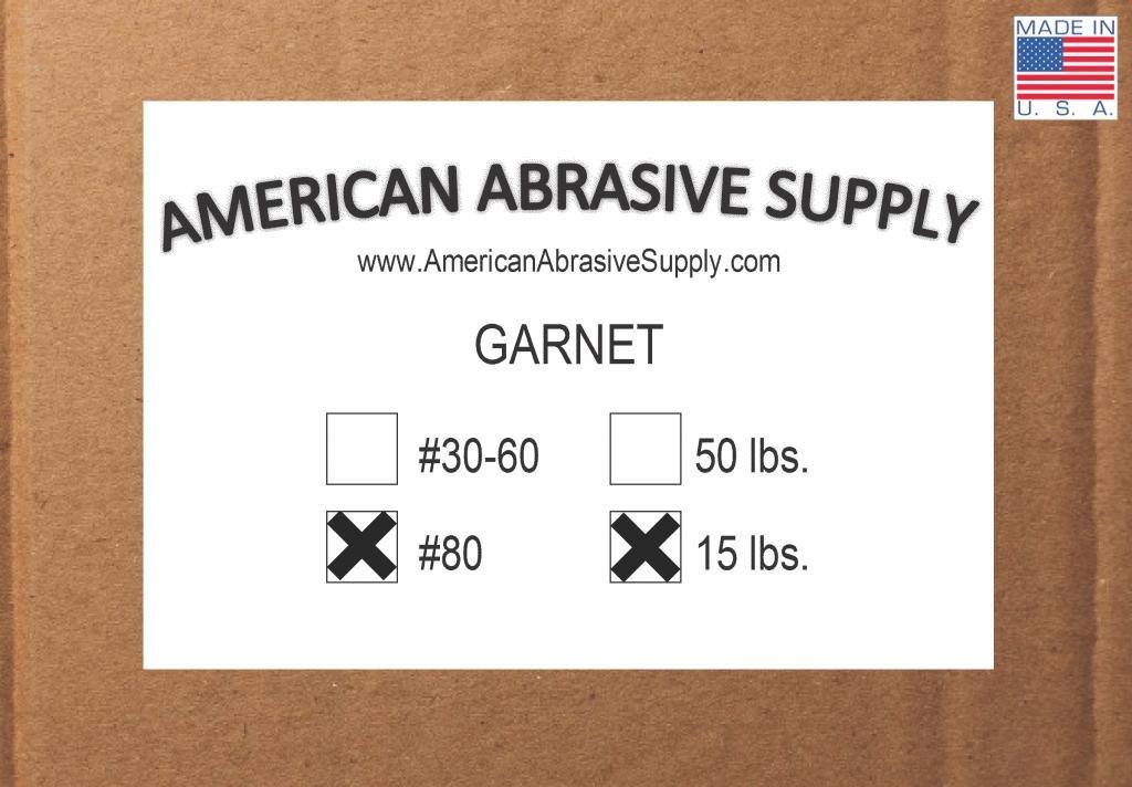 Garnet #80 Grit Blasting Abrasive (15 lbs.)