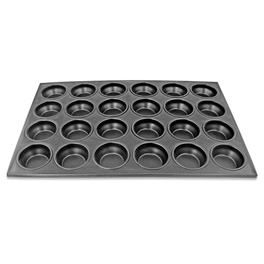 New Star Foodservice 37937 Commercial Grade Aluminum Non-Stick 24-Cup Muffin Pan by New Star Foodservice