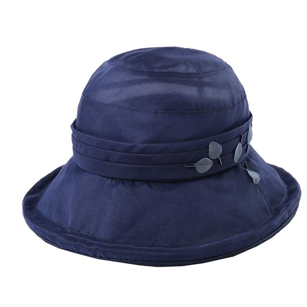 3 Hat  Women's Summer Sun Visor Outdoor UV Predection Sun Hat Embroidered Flower Pot Cap Fisherman Hat (5 colors Choice) (color    4)