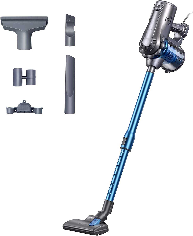 Greenote Stick Vacuum Cleaner, 18KPA Powerful Suction, 600W 4 in 1 Corded Handheld Vacuum Cleaner, 1.2L Capacity Lightweight Vacuum for Home Carpet Pet
