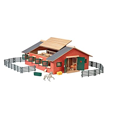 "Breyer Stablemates Deluxe Horse Stable Set | 19 Piece Play Set with 2 Horses | 28"" x 16"" x 8.5"" 