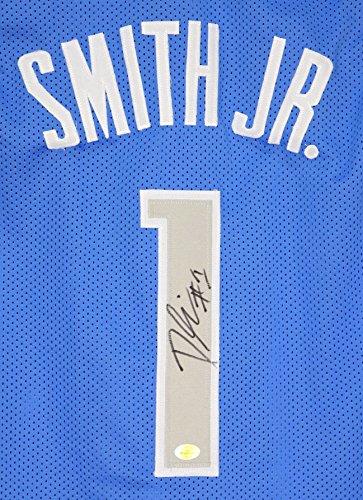 Dennis Smith Jr. Dallas Mavericks Signed Autographed Blue #1 Custom - Jersey Custom Mavericks Dallas
