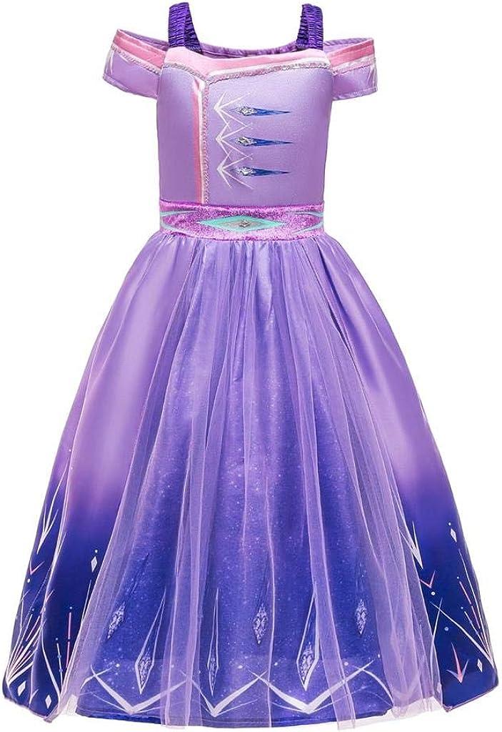 Dressy Daisy Girls Ice Princess Snow Queen 2 New Purple Dress Up Halloween Costume Fancy Gown
