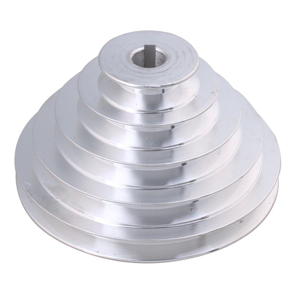 CNBTR - Polea de Pagoda con 5 pasos, 54 mm - 150 mm, 5 ranuras de aluminio, tipo A, 12,7 mm de ancho yqltd