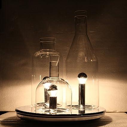 Neixy - Nordic E27 Botella de vino Lámpara de mesa Moderna ...