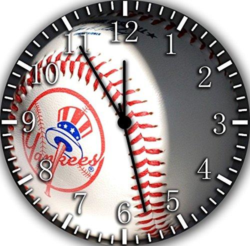 Yankees Frameless Borderless Wall Clock F139 Nice For Gift or Room Wall Decor by Frameless Clock (Image #1)