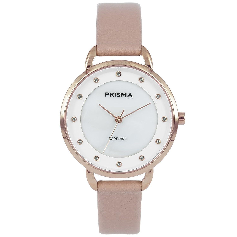 Prisma Damen Armbanduhr Pure Rhombic - Edelstahl rosegold mit Analog Quarzwerk - 5 ATM und Saphirglas P.1936