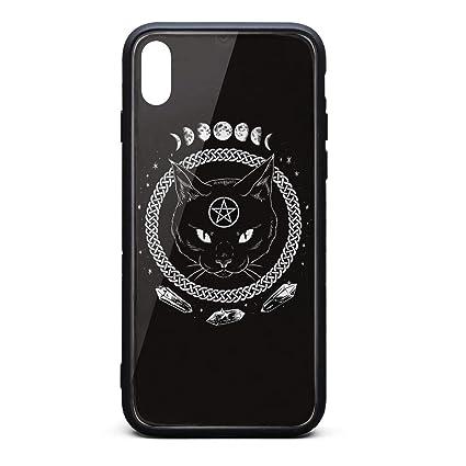 Amazon.com: Carcasa para iPhone XS, diseño de gato de Satan ...