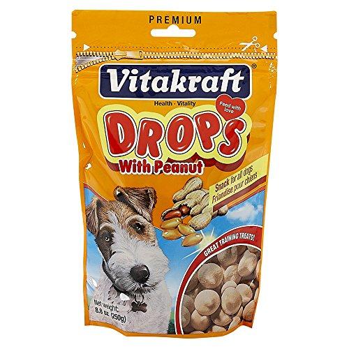 Vitakraft Yogurt Drops - Vitakraft Dog Drops With Peanut Treat, Dog Snacks, 8.8 Ounce Pouch