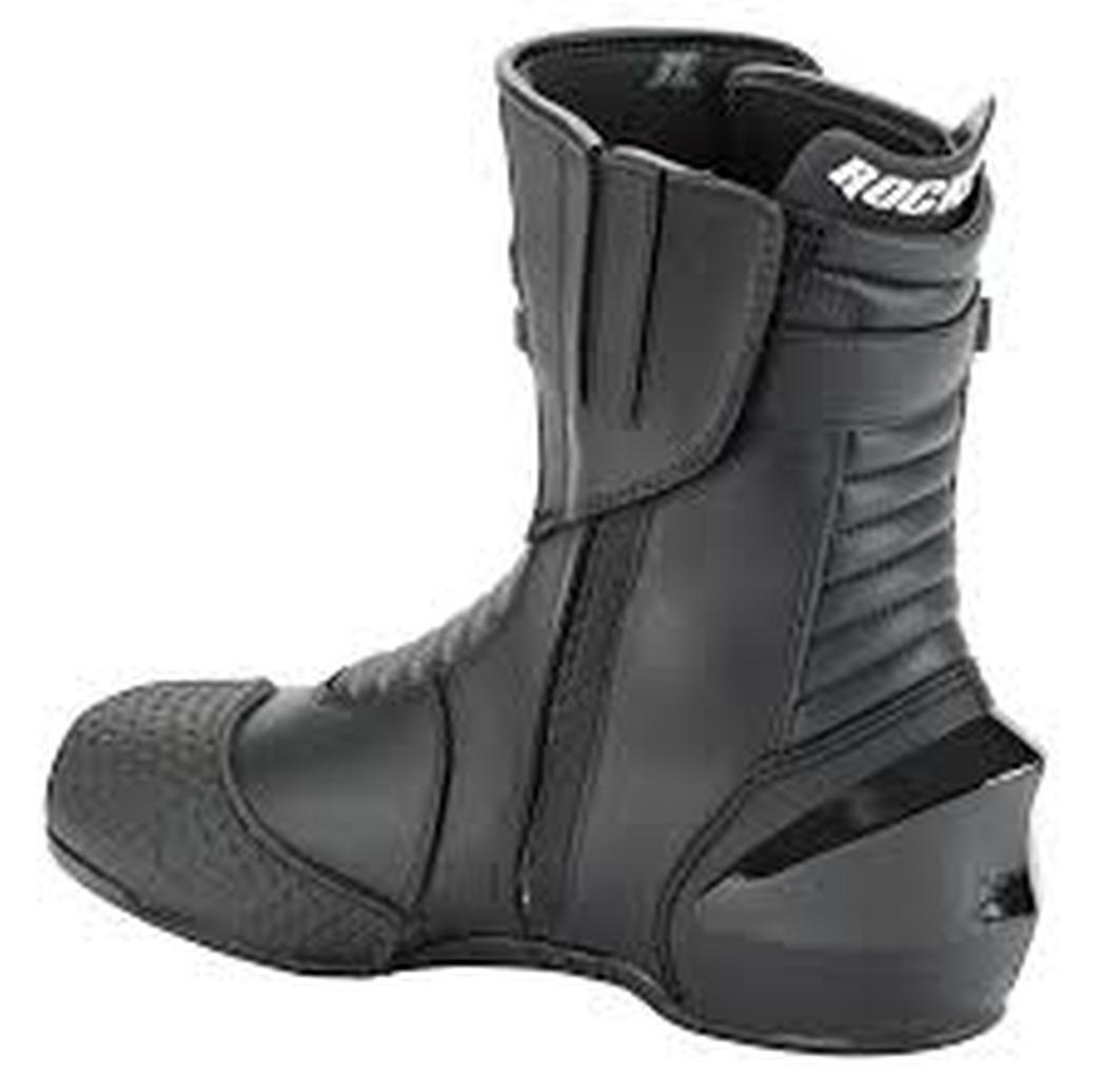 Joe Rocket Super Street RX14 Men's Leather Motorcycle Riding Boots (Black, Size 12)