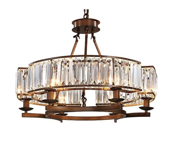 APBEAM Clear K9 Modern Crystal Chandelier Pendant Lights Flush Mount Dining Room Light Fixtures Rustic Finish