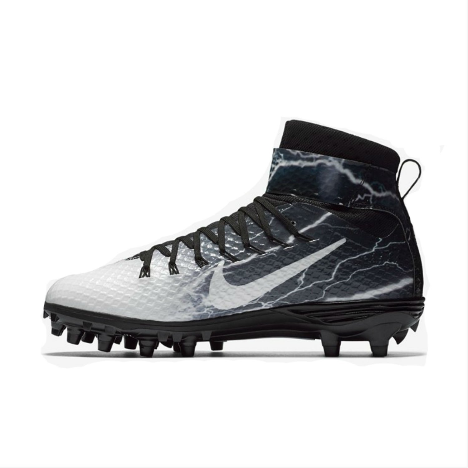 half off 4abc2 9d52a Nike Force Mens Lunarbeast Elite TD Lightning Football Cleats Black-White   Buy Online at Low Prices in India - Amazon.in
