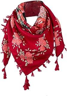 ceintures pour femme, Voberry Femme élégante Femme Rose Floral Prints Tassel Châle Écharpe