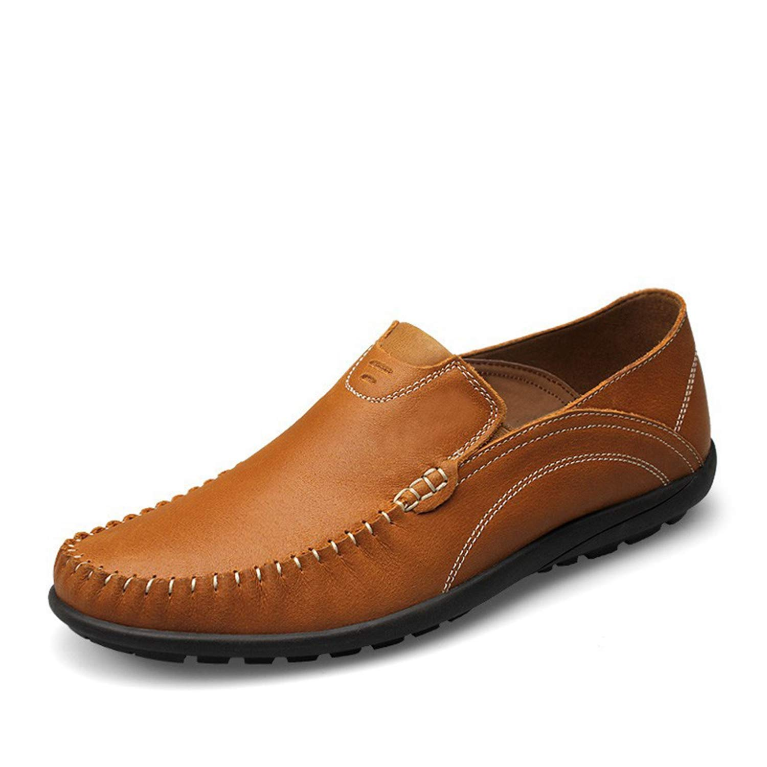 Mildred Jones Big Size 37-46 Mens Genuine Leather Casual Shoes Slip On Men Loafers Moccasins Italian Men Flats Shoes