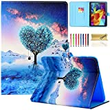 Galaxy Tab 4 10.1 Case,T530 Case,Dteck(TM) Slim Folio Stand Cover Case with Auto Wake/Sleep Feature Magnetic Smart Shell Case for Samsung Galaxy Tab 4 10.1 SM-T530NU T530 T531 T535,Wishing Tree