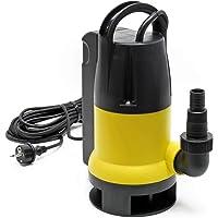 Bomba sumergible para aguas residuales 8000l/h, 400W, altura 5m, transporta partículas hasta Ø35mm