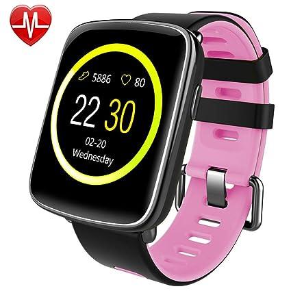 Montre Connectée pour iPhone et Android,Willful SW018 Smartwatch étanche IP68 Montre Sport (Podomètre